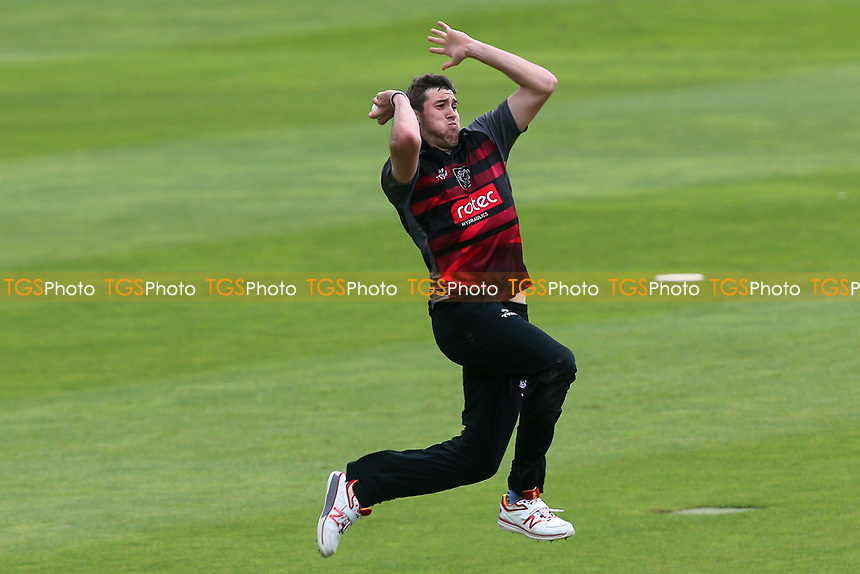 Jamie Overton in bowling action for Somerset during Somerset vs Essex Eagles, Royal London One-Day Cup Cricket at The Cooper Associates County Ground on 14th May 2017