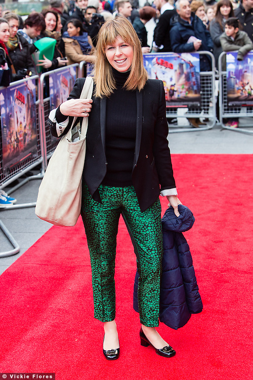 Kate Garraway attends the UK Premiere of The Lego Movie at the Vue West End in Leicester Square, London on February 9th, 2014.