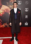 HOLLYWOOD, CA - NOVEMBER 13: Actor Ezra Miller arrives at the Premiere Of Warner Bros. Pictures' 'Justice League' at the Dolby Theatre on November 13, 2017 in Hollywood, California.
