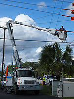2017 FPL Hurricane Irma restoration in West Palm Beach, Fla. on Sept. 12, 2017