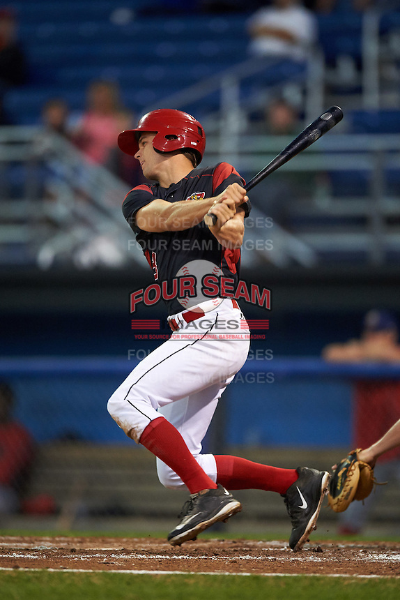 Batavia Muckdogs right fielder Walker Olis (3) at bat during a game against the Williamsport Crosscutters on September 2, 2016 at Dwyer Stadium in Batavia, New York.  Williamsport defeated Batavia 9-1. (Mike Janes/Four Seam Images)