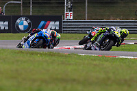 3rd November 2019; Sepang Circuit, Sepang Malaysia; MotoGP Malaysia, Race Day;  Valentino Rossi leads Alex Rins during the race - Editorial Use