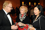 From left: Dr. John Stroehlein, Merle Hunsaker and Miwa Sakashita at the Denton A. Cooley Leadership Award Dinner benefitting Texas Heart Institute at the Hilton American Houston Wednesday Feb. 03,2010.(Dave Rossman Photo)