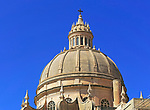 Rotunda domed roof of church of St John the Baptist, Xewkija, island of Gozo, Malta