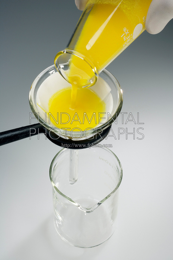 FILTERING A PRECIPITATE: LEAD CHROMATE<br />