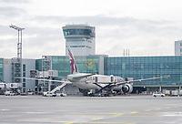 Maschine von Quatar Airways am Frankfurter Flughafen - Frankfurt 16.10.2019: Eichwaldschuele Schaafheim am Frankfurter Flughafen
