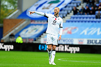 Mike van der Hoorn of Swansea City in action during the Sky Bet Championship match between Wigan Athletic and Swansea City at The DW Stadium in Wigan, England, UK. Saturday 2 November 2019