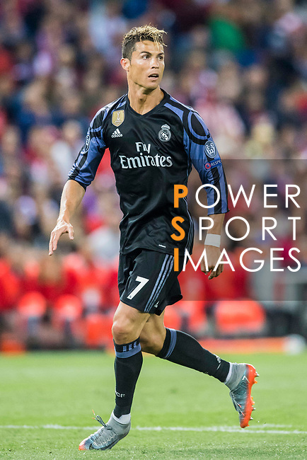 Cristiano Ronaldo of Real Madrid looks on during their 2016-17 UEFA Champions League Semifinals 2nd leg match between Atletico de Madrid and Real Madrid at the Estadio Vicente Calderon on 10 May 2017 in Madrid, Spain. Photo by Diego Gonzalez Souto / Power Sport Images