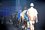 October 14, 2012, Tokyo, Japan - A model poses on the catwalk wearing ''PHENOMENON'' during Mercedes-Benz Fashion Week Tokyo 2013 Spring/Summer. The Mercedes-Benz Fashion Week Tokyo runs from October 13-20. (Photo by Yumeto Yamazaki/Nippon News)