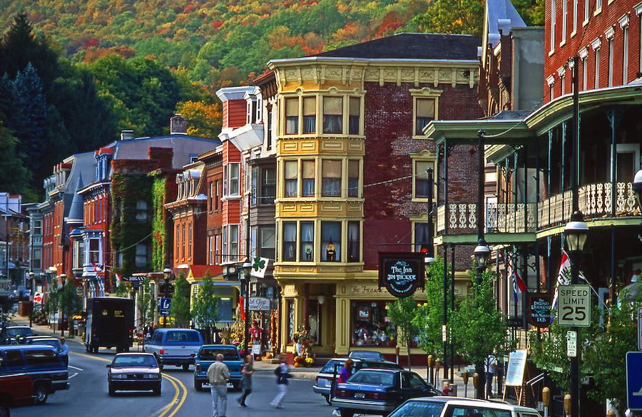 Jim Thorpe town in the mountains of northeastern Pennsylvania