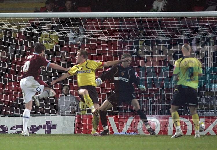 Burnley's Andy Gray scoring