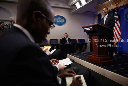 United States President Barack Obama delivers remarks to the press in the Brady Press Briefing Room at the White House, December 13, 2010 in Washington, DC. The U.S. Senate voted for cloture on the tax-cut compromise legislation agreed to between Obama and congressional Republicans, virtually assuring the Senate will pass the bill Tuesday. .Credit: Chip Somodevilla - Pool via CNP