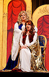 "MERRICK, NY - February 21: Duelling Divas stars, sopranos Birgit Fioravante and Wendy Reynolds - wearing Roman cloaks and singing 'Mira, O Norma' and 'Casta Diva' from Bellini's ""Norma"" - in comic opera concert presented by Merrick Bellmore Community Concert Association on February 21, 2010 at Merrick, NY."