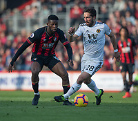 Bournemouth's Jefferson Lerma (left) battles with Wolverhampton Wanderers' Joao Moutinho (right) <br /> <br /> Photographer David Horton/CameraSport<br /> <br /> The Premier League - Bournemouth v Wolverhampton Wanderers - Saturday 23 February 2019 - Vitality Stadium - Bournemouth<br /> <br /> World Copyright © 2019 CameraSport. All rights reserved. 43 Linden Ave. Countesthorpe. Leicester. England. LE8 5PG - Tel: +44 (0) 116 277 4147 - admin@camerasport.com - www.camerasport.com