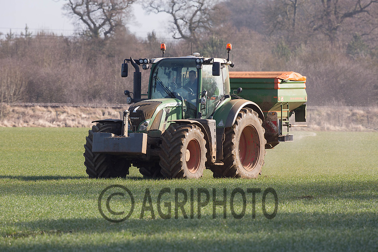 Applying Nitrogen to Winter Wheat<br /> Picture Tim Scrivener 07850 303986