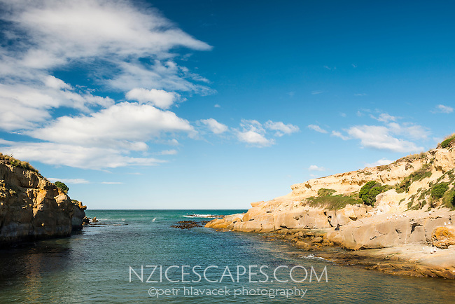 Coastline near Shag Point village, Coastal Otago, East Coast, New Zealand
