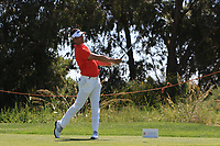 Lee Slattery (ENG) on the 3rd tee during Round 3 of the Rocco Forte Sicilian Open 2018 played at Verdura Resort, Agrigento, Sicily, Italy on Saturday 12th May 2018.<br /> Picture:  Thos Caffrey / www.golffile.ie<br /> <br /> All photo usage must carry mandatory copyright credit (&copy; Golffile   Thos Caffrey)