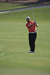 Graeme McDowell playing his second shot ont he 18th during The second round of the Dubai World Championship on the Earth Course at the Jumeirah Golf Estate, Dubai..Picture Fran Caffrey/www.golffile.ie.