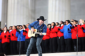 "Washington, DC - January 18, 2009 -- Garth Brooks performs for United States President-elect Barack Obama and his wife Michelle at the ""We Are One"" , the Obama Inaugural Celebration at the Lincoln Memorial on Sunday, January 18, 2009.  .Credit: Dennis Brack - Pool via CNP"