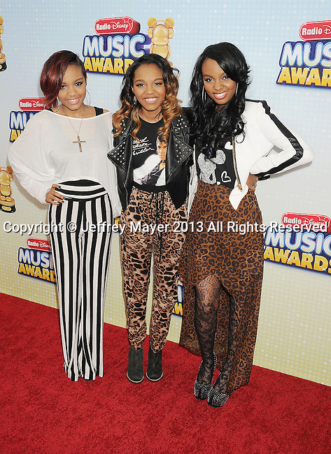 LOS ANGELES, CA- APRIL 27: Actress China Anne McClain and sisters arrive at the 2013 Radio Disney Music Awards at Nokia Theatre L.A. Live on April 27, 2013 in Los Angeles, California.
