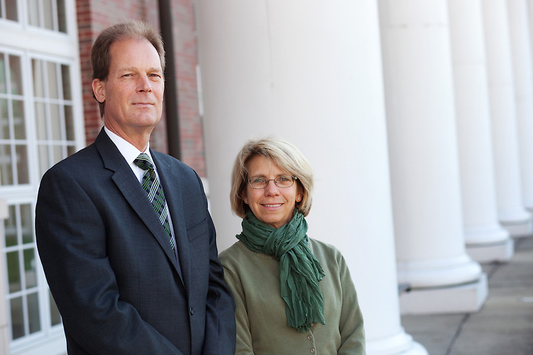 Bryan Benchoff and Laura Brege pose for a portrait in Athens, Ohio on Saturday, November 10, 2012. Photo by Chris Franz