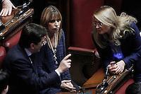 Nicola Cosentino, Alessandra Mussolini e Giuseppina Castiello.Roma 31/01/2012 Voto finale alla Camera dei Deputati sul Decreto Milleproroghe.Foto Insidefoto Serena Cremaschi
