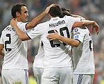 MADRID (15/(09/2010).- Champions League match Real Madrid vs Ajax Amsterdam. Gonzalo Higuain goal, Ricardo Carvalho..Photo: Cesar Cebolla / ALFAQUI