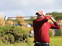 Ed Stack (Ballybunion) on the 1st tee during the Munster Final of the AIG Senior Cup at Tralee Golf Club, Tralee, Co Kerry. 12/08/2017<br /> <br /> Picture: Golffile | Thos Caffrey<br /> <br /> All photo usage must carry mandatory copyright credit     (&copy; Golffile | Thos Caffrey)