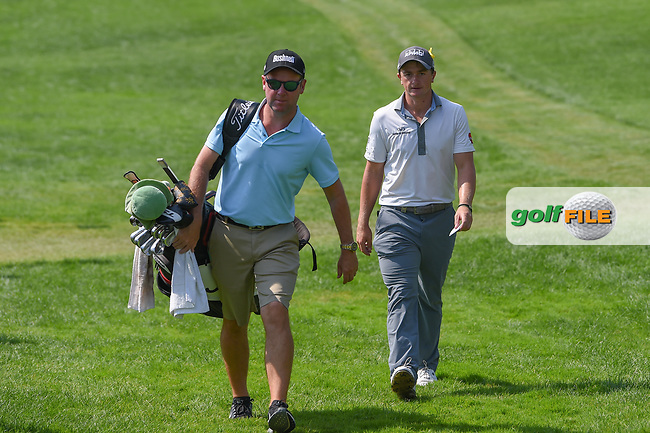 Paul Dunne (IRE) approaches the first tee during 3rd round of the World Golf Championships - Bridgestone Invitational, at the Firestone Country Club, Akron, Ohio. 8/4/2018.<br /> Picture: Golffile | Ken Murray<br /> <br /> <br /> All photo usage must carry mandatory copyright credit (© Golffile | Ken Murray)