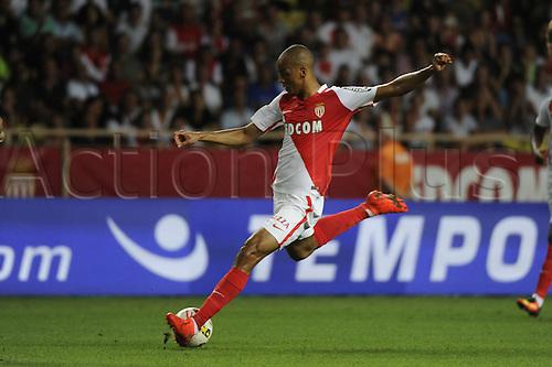 03.08.2016. Monaco, France. UEFA Champions league qualifying round, AS Monaco versus Fenerbahce.  Fabinho (mon) takes a shot on goal