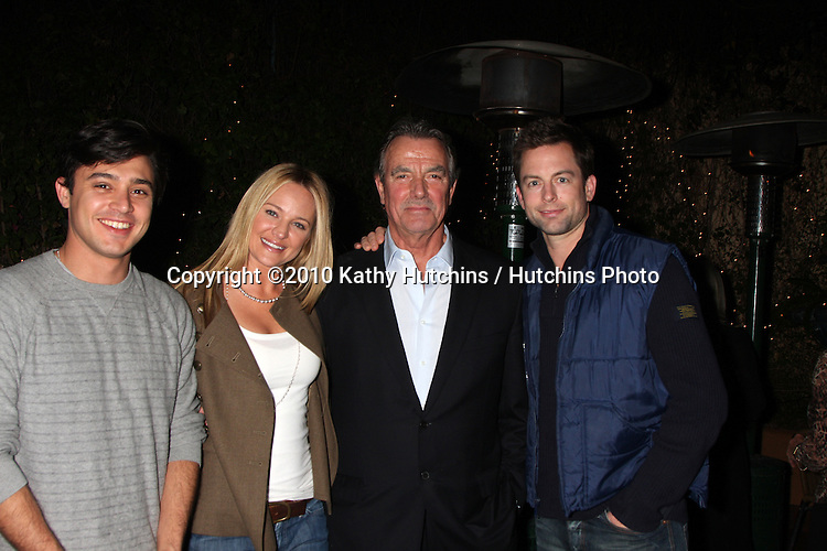 Yani Gellman, Sharon Case, Eric Braeden, and Michael Muhney.at the Eric Braeden's 30th Anniversary on The Young & The Restless Cocktail Reception .Pane e Vino Resturant.Los Angeles, CA.February 3, 2010.©2010 Kathy Hutchins / Hutchins Photo..Publicist & Braeden Approved....