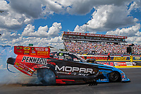Sep 3, 2018; Clermont, IN, USA; NHRA funny car driver Matt Hagan during the US Nationals at Lucas Oil Raceway. Mandatory Credit: Mark J. Rebilas-USA TODAY Sports