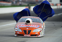 Aug. 31, 2012; Claremont, IN, USA: NHRA pro stock driver Jason Line during qualifying for the US Nationals at Lucas Oil Raceway. Mandatory Credit: Mark J. Rebilas-