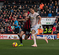 Manchester United's Nemanja Matic (right) vies for possession with Bournemouth's David Brooks (left) <br /> <br /> Photographer David Horton/CameraSport<br /> <br /> The Premier League - Bournemouth v Manchester United - Saturday 3rd November 2018 - Vitality Stadium - Bournemouth<br /> <br /> World Copyright &copy; 2018 CameraSport. All rights reserved. 43 Linden Ave. Countesthorpe. Leicester. England. LE8 5PG - Tel: +44 (0) 116 277 4147 - admin@camerasport.com - www.camerasport.com