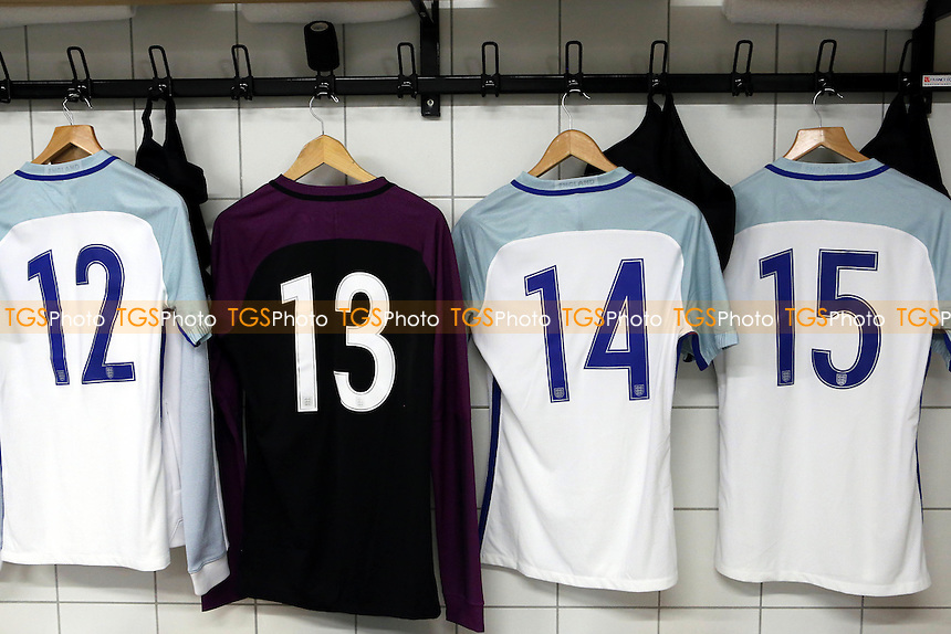 Jack Grealish shirt (No 14) is already hanging up in the England dressing room as he makes his first appearance for an England side during England Under-20 vs Portugal Under-20, 2016 Toulon Tournament Football at Stade Leo Lagrange on 19th May 2016