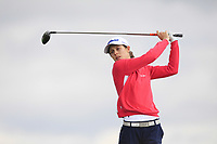 Isobel Wardle (ENG) on the 8th tee during Round 3 Matchplay of the Women's Amateur Championship at Royal County Down Golf Club in Newcastle Co. Down on Friday 14th June 2019.<br /> Picture:  Thos Caffrey / www.golffile.ie