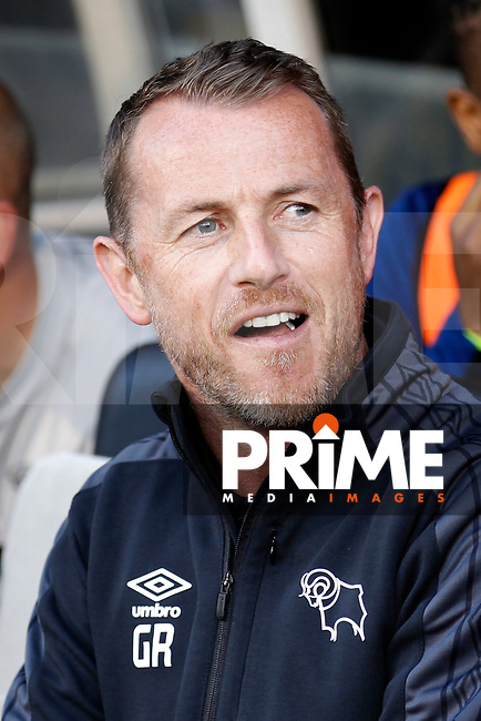 Derby County manager, Gary Rowett seen during the Sky Bet Championship play off semi final 2nd leg match between Fulham and Derby County at Craven Cottage, London, England on 15 May 2018. Photo by Carlton Myrie / PRiME Media Images.