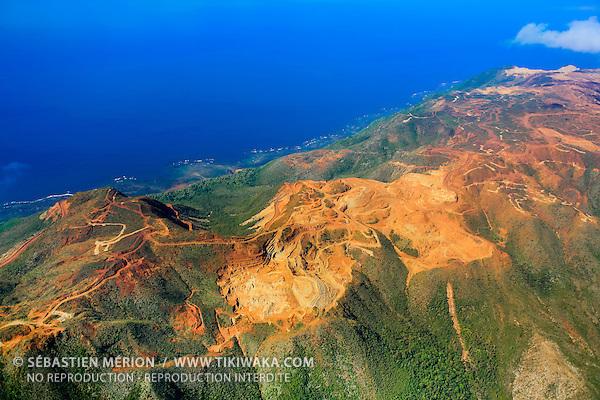 Mine de nickel, cap Bocage, nord de Houaďlou, côte Est Nouvelle-Calédonie