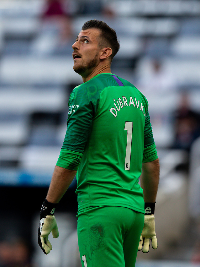 Newcastle United's Martin Dubravka reacts<br /> <br /> Photographer Alex Dodd/CameraSport<br /> <br /> The Premier League - Newcastle United v Aston Villa - Wednesday 24th June 2020 - St James' Park - Newcastle <br /> <br /> World Copyright © 2020 CameraSport. All rights reserved. 43 Linden Ave. Countesthorpe. Leicester. England. LE8 5PG - Tel: +44 (0) 116 277 4147 - admin@camerasport.com - www.camerasport.com