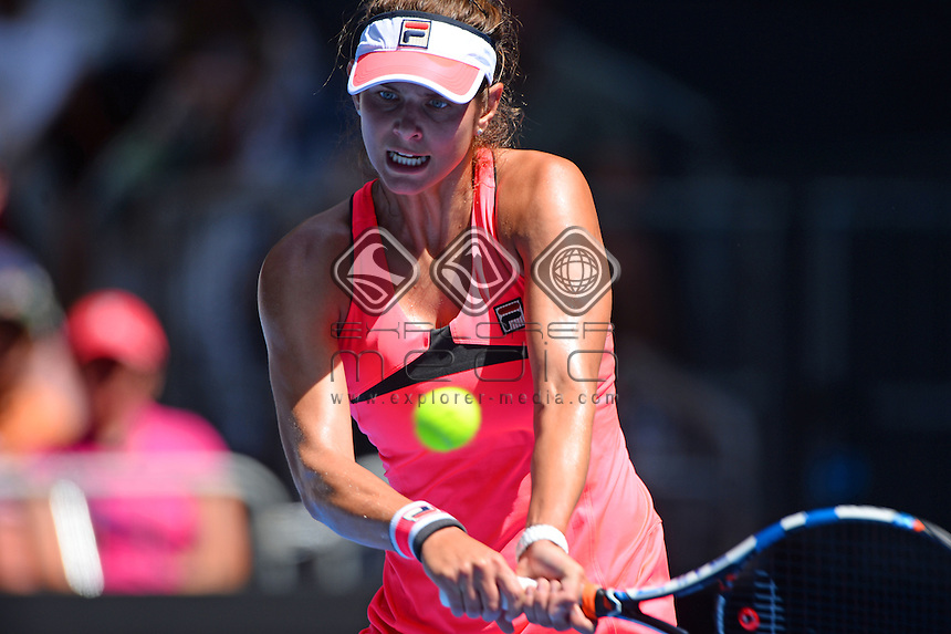 Julia Goerges (GER) round 1 action<br /> 2015 Australian Open Tennis <br /> Grand Slam of Asia Pacific<br /> Melbourne Park, Vic Australia<br /> Monday 19 January 2015<br /> &copy; Sport the library / Jeff Crow