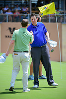 J.J. Henry (USA) shakes hands with Brandon Grace (RSA) following round 1 of the Valero Texas Open, AT&amp;T Oaks Course, TPC San Antonio, San Antonio, Texas, USA. 4/20/2017.<br /> Picture: Golffile | Ken Murray<br /> <br /> <br /> All photo usage must carry mandatory copyright credit (&copy; Golffile | Ken Murray)