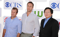BEVERLY HILLS, CA - JULY 29: Scott Caan, Alex O'Loughlin, Masi Oka arrive at the CBS, Showtime and The CW 2012 TCA summer tour party at 9900 Wilshire Blvd on July 29, 2012 in Beverly Hills, California. /NortePhoto.com<br />