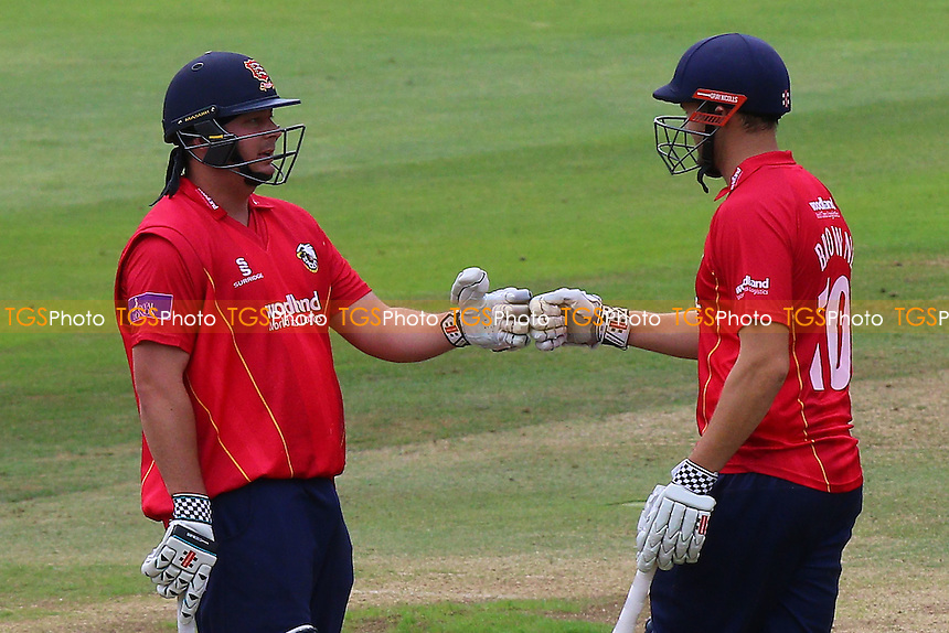 Jesse Ryder (L) and Nick Browne in batting action for Essex during Middlesex vs Essex Eagles, Royal London One-Day Cup Cricket at Lord's Cricket Ground on 31st July 2016