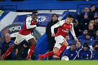 Alexis Sanchez of Arsenal races upfield as Danny Welbeck looks on during Chelsea vs Arsenal, Caraboa Cup Football at Stamford Bridge on 10th January 2018