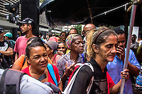 SÃO PAULO,SP, 16.02.2017 - ACAMPAMENTO-SP - Segundo dia consecutivo do acampamento montado por Militantes do MTST (Movimento dos Trabalhadores Sem-Teto) em frente ao escritório da Presidência da República, na Avenida Paulista, em São Paulo, nesta quinta-feira, 16. O protesto é pela suspensão da contratação de casas do programa Minha Casa Minha Vida destinadas à chamada Faixa 1- famílias com renda familiar de até R$ 1,9 mil. (Foto: Danilo Fernandes/Brazil Photo Press)
