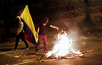 Demonstrators clash with Police during nationwide strike in Colombia