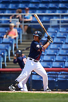 Binghamton Mets pinch hitter Victor Cruzado (5) at bat during a game against the Richmond Flying Squirrels on June 26, 2016 at NYSEG Stadium in Binghamton, New York.  Binghamton defeated Richmond 7-2.  (Mike Janes/Four Seam Images)