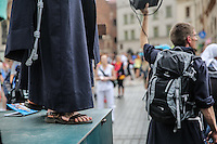 World Youth day Krakow 2016<br /> Frate: particolare saio e sandali