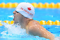 PICTURE BY ALEX BROADWAY /SWPIX.COM - 2012 London Paralympic Games - Day Ten - Swimming, Aquatic Centre, Olympic Park, London, England - 08/09/12 - Donovan Tildesley of Canada competes in the Men's 200m Individual Medley SM11 Final.