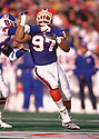 Buffalo Bills Cornelius Bennett  (97) during a game fro his 1992 season with the Buffalo Bills. Cornelius Bennett  played for 14 years with 3 different teams and was a 5-time Pro Bowler